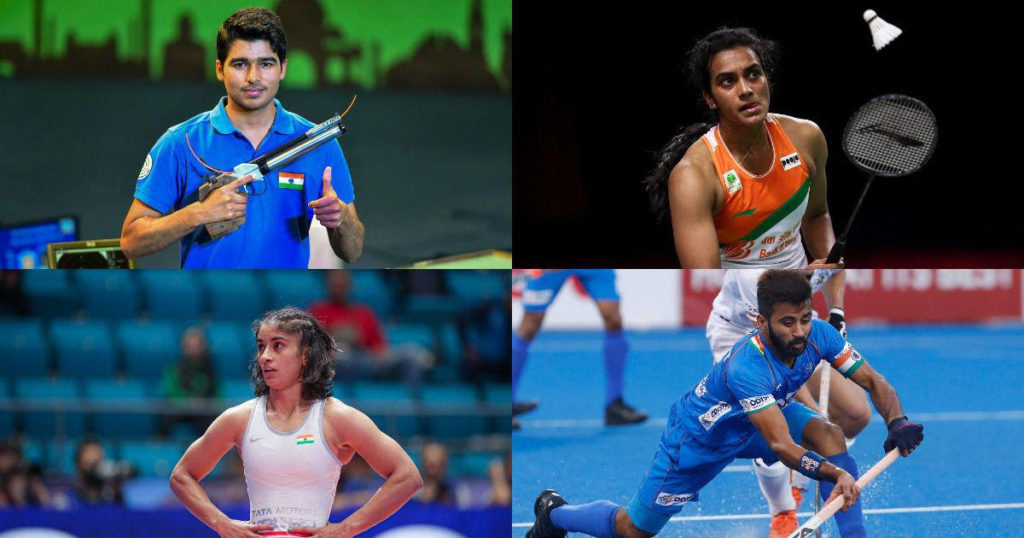 Indian athletes in tokyo olympics.
